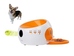 Dog Automatic Balle Launcher and Food Distributeur Fun Pet Toy Interactive Toy