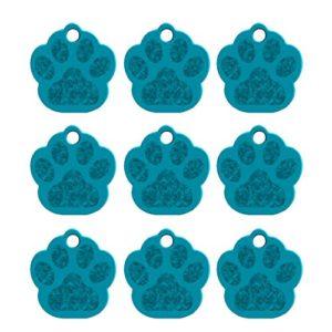 Doitsa 1PCS Carte d'identité Étiquettes de chien Griffe de chien Bibelots créatifs perdus Carte de compagnie Tag Teddy Golden Retriever Décoration pour chien size 35mm*33mm*1.2mm (Bleu clair)