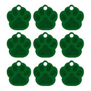 Doitsa 1PCS Carte d'identité Étiquettes de chien Griffe de chien Bibelots créatifs perdus Carte de compagnie Tag Teddy Golden Retriever Décoration pour chien size 35mm*33mm*1.2mm (Vert)