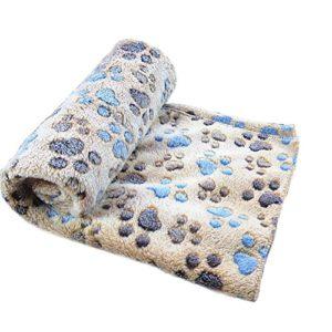 Doitsa 1PCS Épaissir Velours de corail Couvertures pour animaux de compagnie Kennel pad Couvertures pour chats et chiens Couvertures d'automne et d'hiver Fournitures pour animaux size 60*40 cm (Café S)