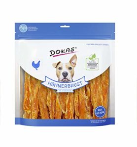 Dokas Snack à Rayures de qualité supérieure sans céréales pour Chien – Idéal pour Les Chiens