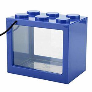 EDtara Aquarium en Acrylique pour Aquarium Bleu