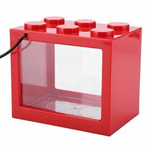 EDtara Aquarium en Acrylique pour Aquarium Rouge