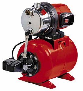 Einhell Groupe de surpression GC-WW 1046 N (1050 W , Débit max. 4.600 l/h, Hauteur de refoulement 48 m , Hauteur d'aspiration 8 m, Pression 4,8 bar, Pression de démarrage max. 1,5 bar , Pression d'arrêt max. 3 bar, Réservoir de pression de 20 litres )