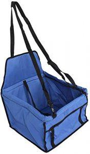 Ejoyous 40 x 30 x 25 cm Sac de Transport pour Chien, Portable Pliant Sac de Siège de Voiture pour Animaux de Compagnie en PVC, Bleu