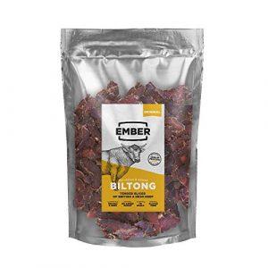 Ember Biltong Gros Sac – Original Beef Jerky – Bœuf Séché – Snack Riche en Protéines – Original (1x500g)