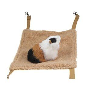 Emours – Hamac à suspendre pour hamster, souris, rat, furet, chinchilla et autres petits animaux (marron)