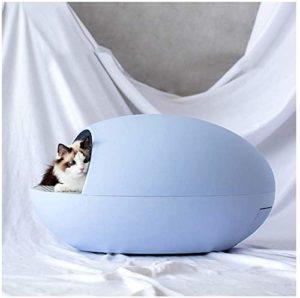Entièrement Litière Pour Animaux Automatique D'auto-Nettoyage Cat Cat Smart Box Cuvettes De WC Électrique Cat Bassines, Pet Supplies,Bleu