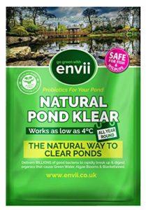 Envii Natural Pond Klear – Nettoyeur Pour Bassin Qui Élimine L'eau Verte et Traitement Qui Débarrasse Des Algues (Traite 20 000 Litres)