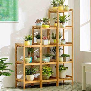 Etagère à Fleurs Escalier pour Plantes Bois échelle Plante Support intérieur Escalier Présentoire de Jardin