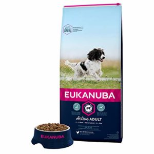 Eukanuba – Croquettes pour Chien Adulte Moyenne Race – Poulet – 15kg