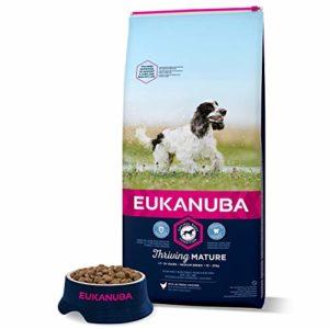 Eukanuba – Croquettes pour Chien Mature Senior Race Moyenne – Poulet – 15kg