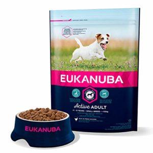 Eukanuba Croquettes pour Chien Adulte Petite Race – Poulet – 3kg