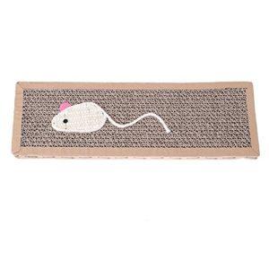 Everpert Sisal Cat Scratch Board Pad pour chat Climber pour animal domestique cranté interactif jouet