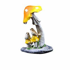 Fansi 1 pièce Aquarium décoration Vert Simulation créatif réaliste Champignon résine Accessoires de décoration