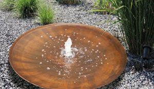 Fontaine Acier Corten Acier Aqua Bowl Florence