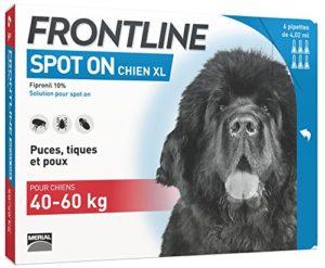 FRONTLINE Spot-on Chien – Anti-puces et anti-tiques pour chien – 40-60kg – 6 pipettes