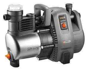 GARDENA Pompe d'arrosage de surface 6000/6 inox Premium: pompe d'arrosage durable, pour une utilisation en extérieur avec débit de 6000 l/h, boîtier inox, protection thermique (1736-20)
