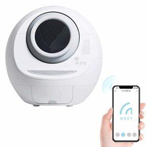 GBY Bac à litière électrique, Toilettes pour Chat automatiques et bac à litière Intelligent + Set de Distributeur d'eau Automatique, équipement Intelligent entièrement fermé, Machine à Pelle éle