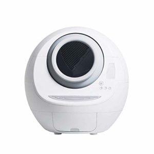 GBY Toilette électrique pour Chat, bac à litière Automatique, Fournitures de Chat pour Pelle Intelligente, Toilette pour Chat électrique Automatique entièrement fermée, Grand Blanc