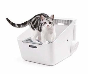 GBY Toilette pour Chat, bac à litière pour Animaux de Compagnie, odorant pour réseau inductif, bac à litière pour déodorant pour Toilettes pour Chat, 50.7 * 37.4 * 35cm