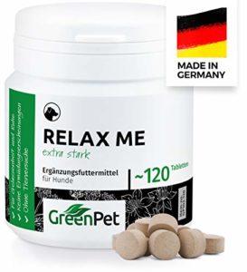 GreenPet Décontractants Relax Me 120 Comprimés pour Chien, Anxiété de la séparation et Réduction du Stress, Relaxation