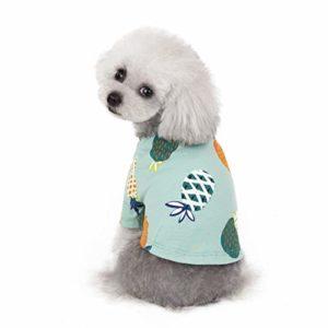 Hawkimin Robe pour Chien Pet Printemps et été Ananas Print Costume de Chien Imprimé Pet Dog Clothes Dress
