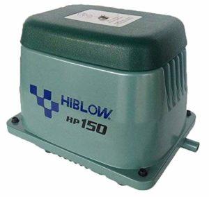 Hiblow Pompe à air HP de 150180L/Min à 1,3m, sortie 18mm, 125W