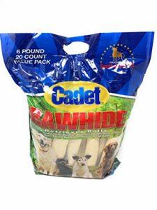 IMS PET Cadet Retriever Rouleaux en Cuir Brut 25,4cm, 20-Pack, 2-Pack