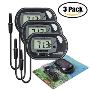iRoundy 3pcs LCD Thermomètre d'Aquarium numérique Aquarium Thermomètre Digital Thermometre Numérique pour Terrarium, Aquarium et Vivarium