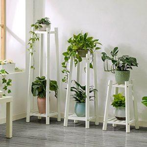 JHhuajia Etagère à Fleurs Escalier pour Plantes Bois échelle Plante Support intérieur Escalier Présentoire de Jardin (Couleur : B)