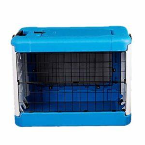Jlxl Chat Litière Plateau Pliant Animal De Compagnie Cage Air Boîte pour Chiot Toilette Nettoyer Facile Pleinement Enfermé Toile (Couleur : Bleu, Taille : M.91x61x71cm)