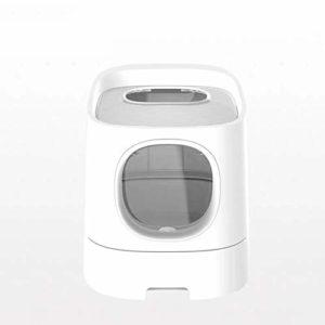 JXXZYH Litière pour Chat de première Classe, Litière pour Chat Semi-fermée, Fournitures de Toilette pour Chat Anti-éclaboussures pour Chat