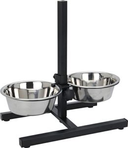 Kabalo alimentation en acier inoxydable bols avec support réglable pour 2 chiens et animaux de compagnie