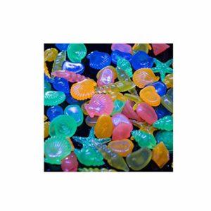 KAIMENG coloré Pebble Conque Coque Glow pierres pour aquarium 60pcs