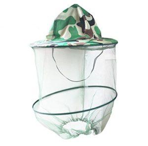Katech Chapeau de camouflage Apiculture Apiculteur anti-moustiques Masque extérieur Pêche et camping Moustiquaire Chapeau équipement de protection