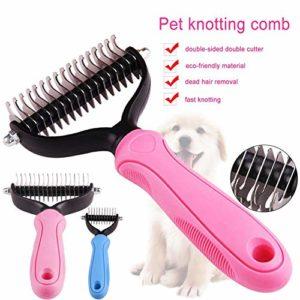Learnarmy Brosse de toilettage pour chien en acier inoxydable pour chat chiot épilation soins quotidiens (couleur aléatoire)