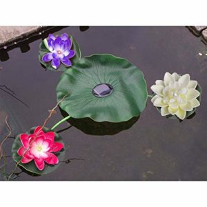 Lily Pad Floating Floating Solar Light Pond Décoration de jardin Fleurs solaires