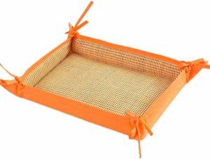 Lit Rotin Chien Chat Domestique Lavable Nid D'animal Multifonctionnel Rectangulaire Canapés Quatre Saisons Accessoires For Animaux D'usure Universel Fibre Synthétique Perméable À L'air Matériau Amovib