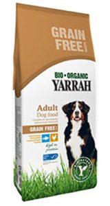Lot de 24Bio Doublure sec poulet et poisson sans céréales pour Chien 10kg Yarrah