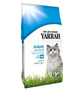 Lot de 24écologique chat avec poisson 10kg croquettes Yarrah