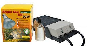 LUCKY REPTILE Bright Sun UV Jungle, Kit complet, métal vapeur avec culot compatible et ballast