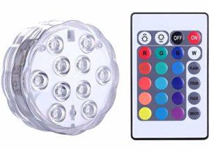 Lumière submersible de LED avec la télécommande, Alilimall imperméabilisent la lampe multi de couleur pour des piscines, bains chauds, vase de base, floral, aquarium, étang, mariage, partie, éclairage