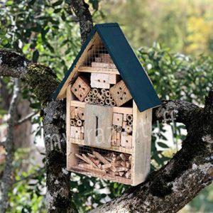 Maison à insectes en Bois Naturel et Bambou – Anti nuisibles & Pesticide Naturel
