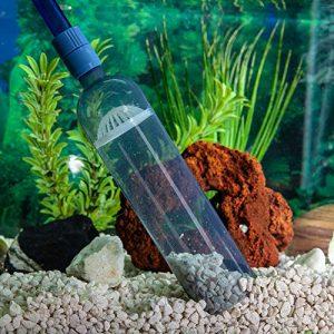 Nettoyeur de gravier d'aquarium, pompe de siphon de vide avec le contrôle de débit – Nettoyeur de gravier avec le filtre de l'eau Tuyau de siphon, nettoyeur de réservoir de poissons, amorçage automatique, vidange rapide d'eau, nettoyeur de gravier