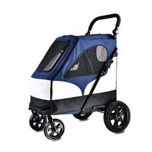 NYJ Pet Roadster – Dog Show trolleybus et New Dog Pet Poussette (Color : A)