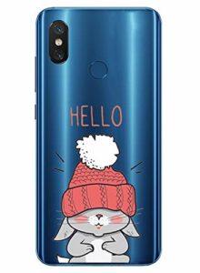 Oihxse Mode Transparent Silicone Case Compatible pour Xiaomi Mi 9T/Xiaomi Mi 9T Pro Coque, Ultra Mince Souple TPU Mignon Animal Série Protection de Housse Anti-Scrach Bumper Etui -Lapin