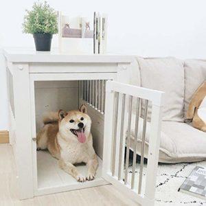 Ouqian-BB Cabane en Bois Extérieur Utilisez Niche Pet Dog House Cat House intérieur Utilisez abri for Animaux for Chiots Animaux Maison extérieure (Couleur : Blanc, Taille : 109x70x79cm)