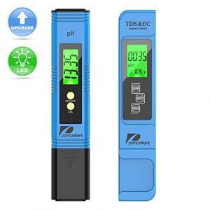 Pancellent Testeur de qualité de l'eau TDS PH EC Set de température 4 en 1 pour la Culture hydroponique, Les Aquariums, l'eau Potable, Le système RO, l'étang et la Piscine