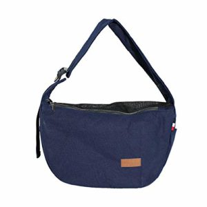 Pet Carrier Bag, Poches latérales avec Grande capacité Pet Sling Bag, Sangle réglable en Toile Animal Carrier Bag, N° 0, Bleu, Free Size